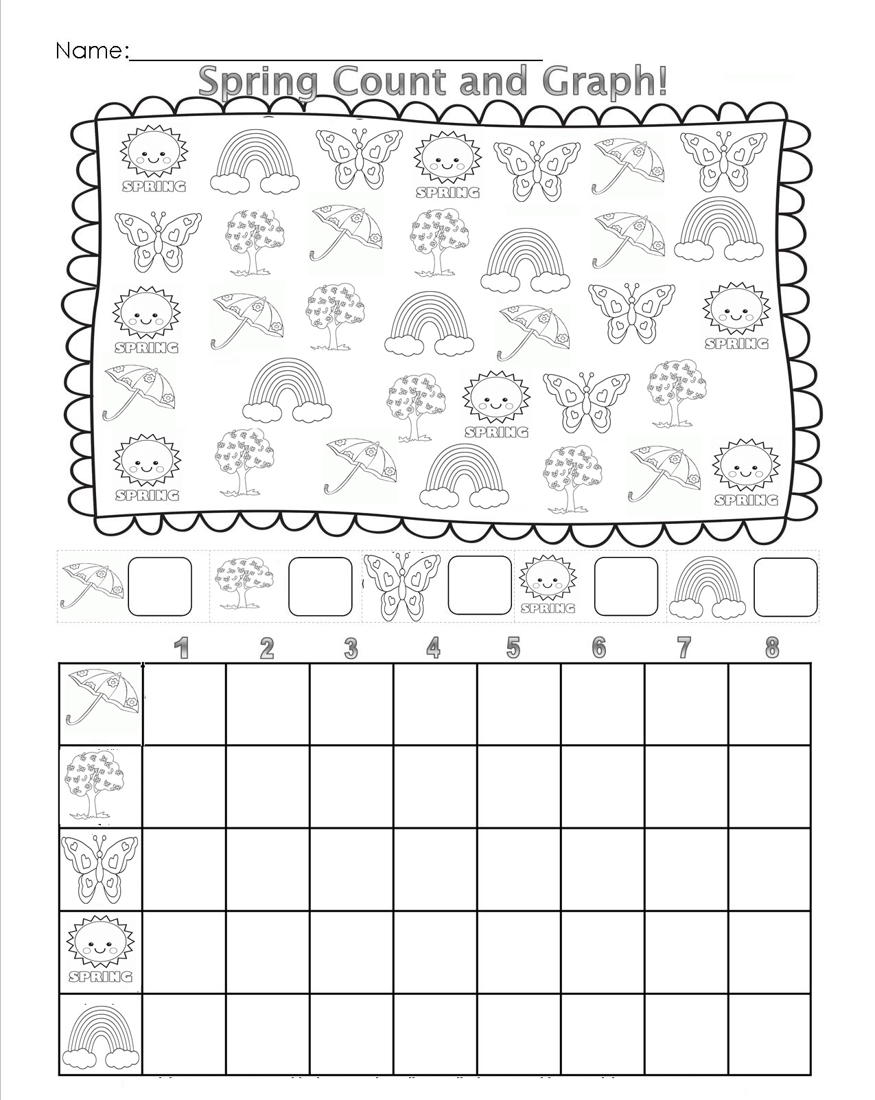 Winter Graphing Tally Worksheet