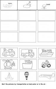 Transportation Worksheets Kindergarten Bigger Or Smaller