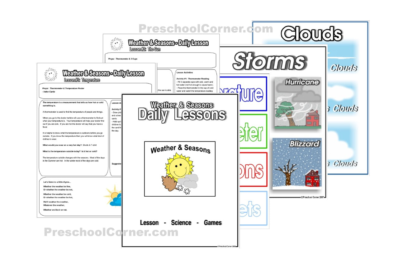 Preschool Weather And Seasons Lesson Plan