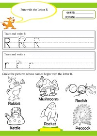 Letter-R-tracing-writing-worksheet - Preschool Crafts
