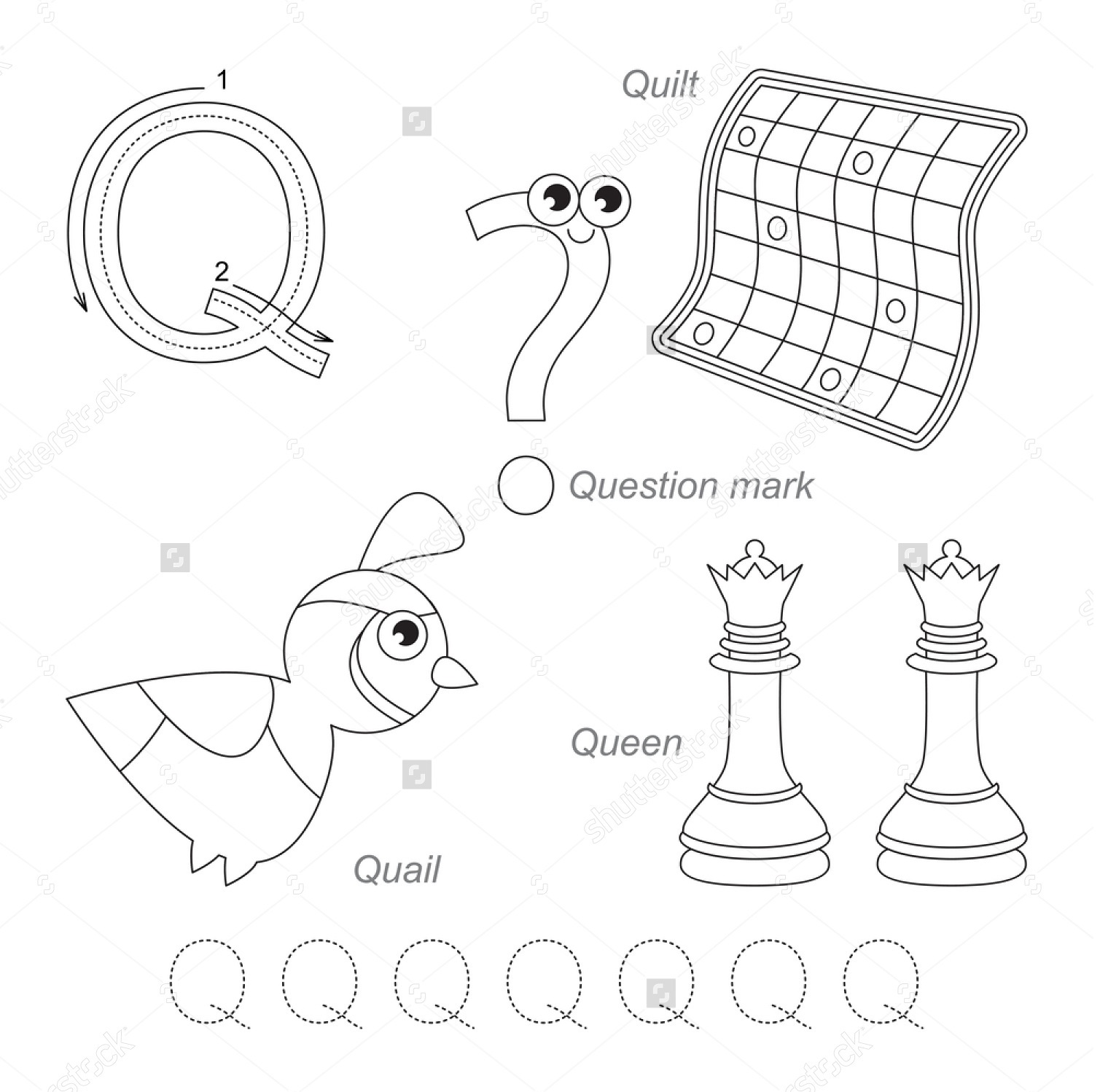 Alphabet Letter Q Worksheets
