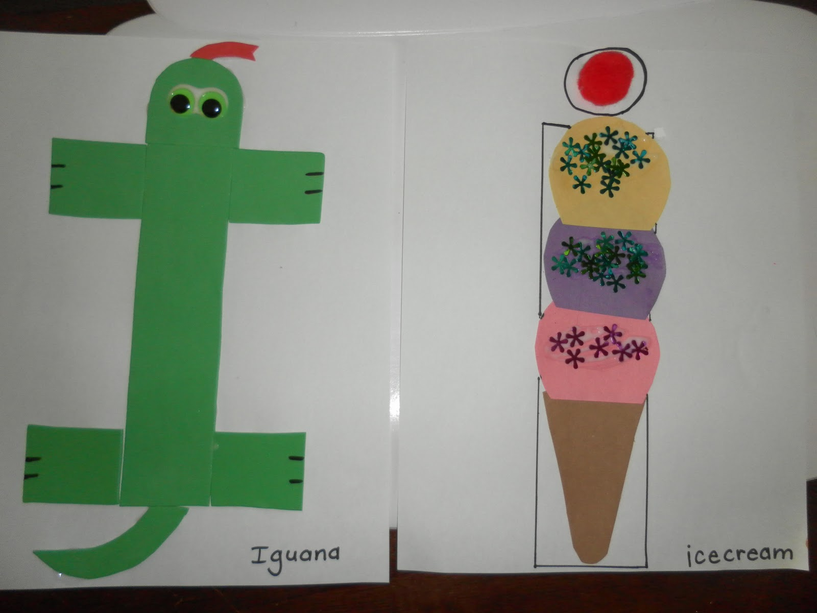 Letter I or i crafts  Preschool and Kindergarten