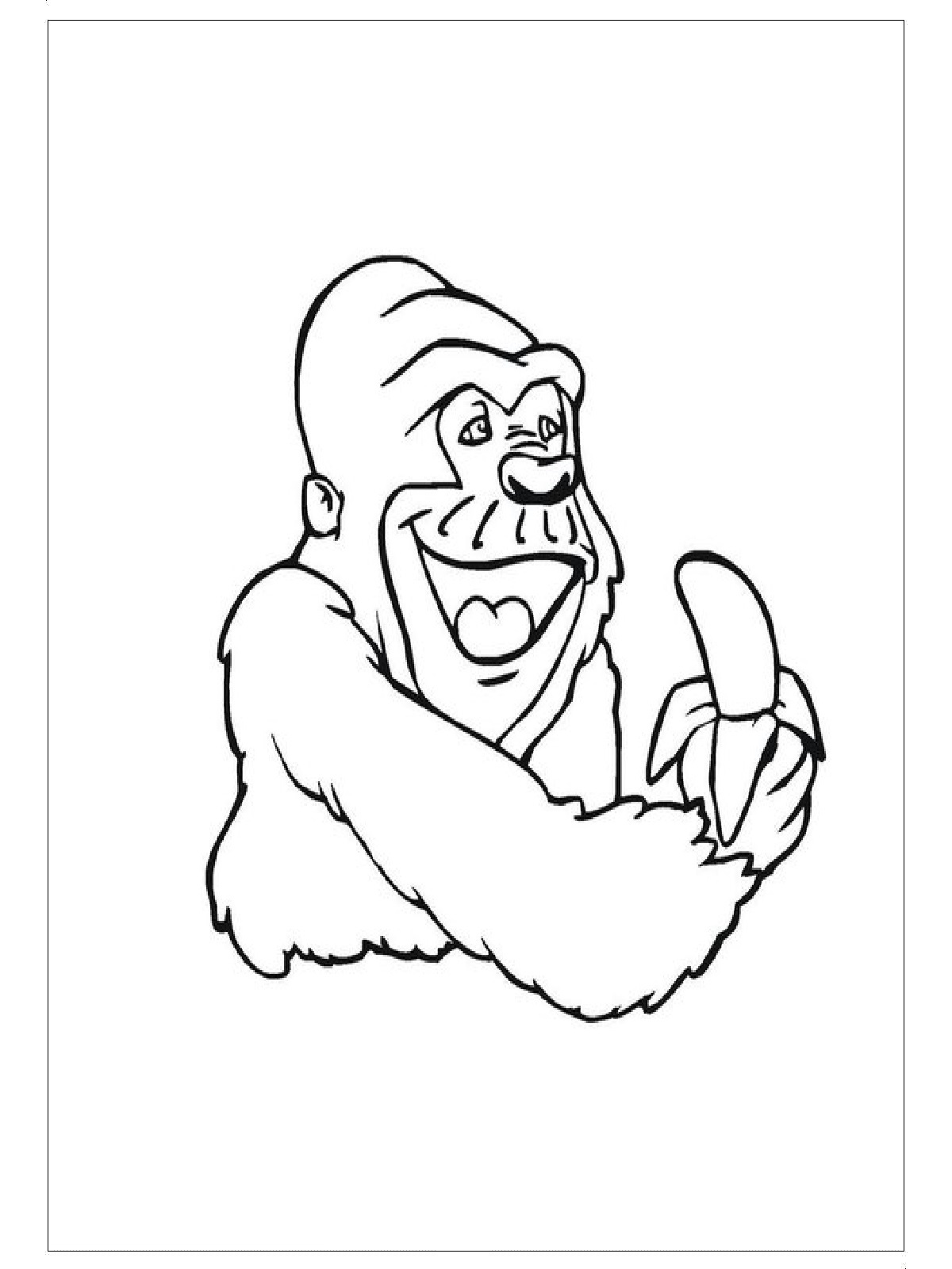 Free Animals Gorilla Printable Coloring Pages For Kidzone