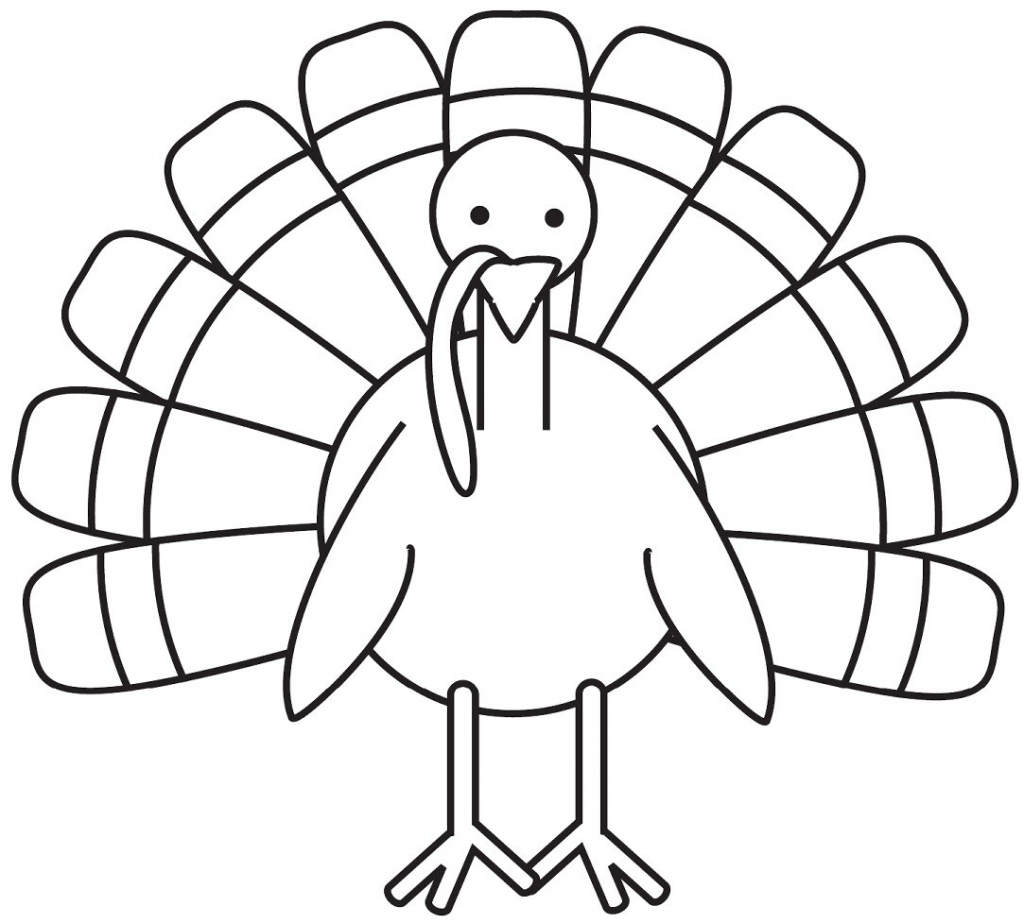 Free Animals Turkey Printable Colouring Pages For