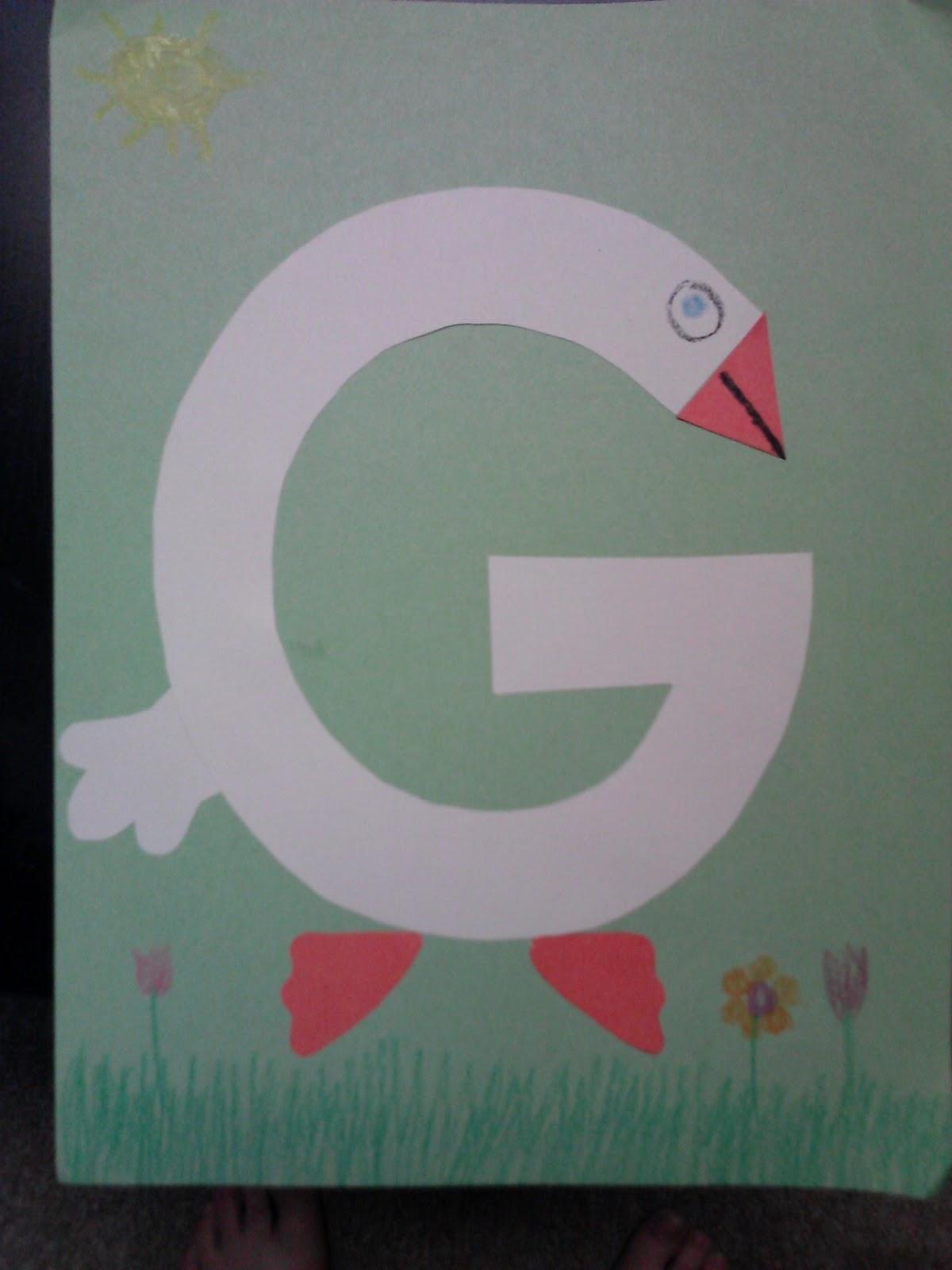 Letter G Crafts