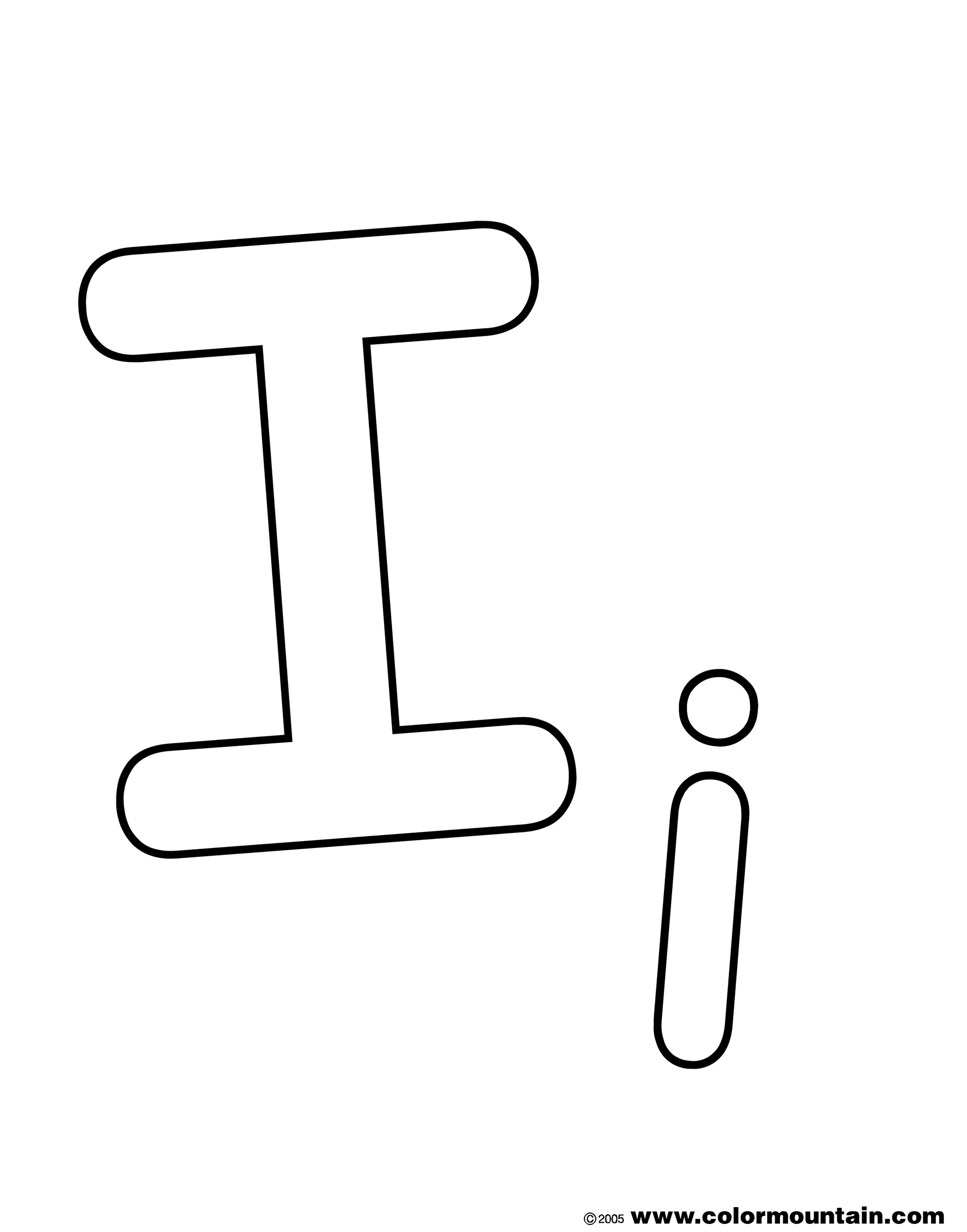 Free Letter I Coloring Pages For Preschool