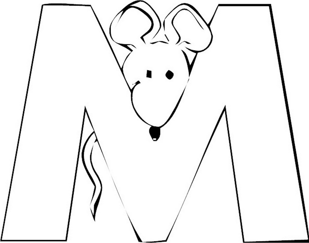Free Letter M Coloring Pages For Preschool