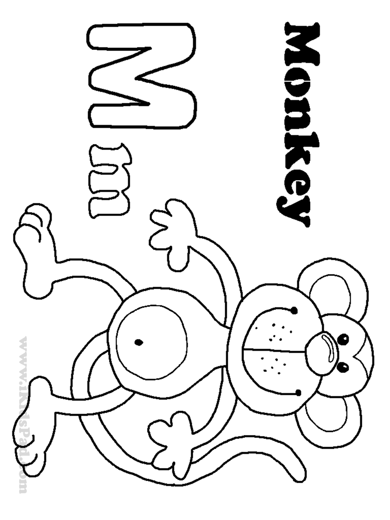 Free Letter M Coloring Pages For Preschool Preschool Crafts