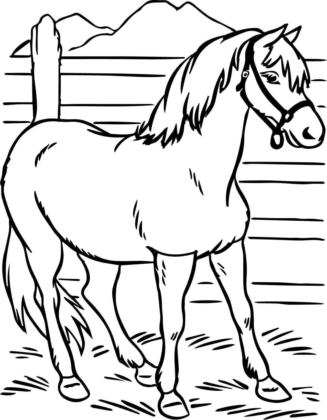 Horse Printable Coloring Pages For Preschool