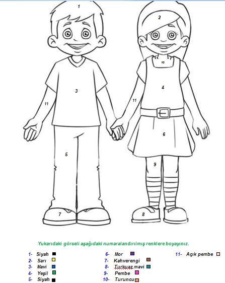 Human Body Kids Worksheet Sketch Coloring Page