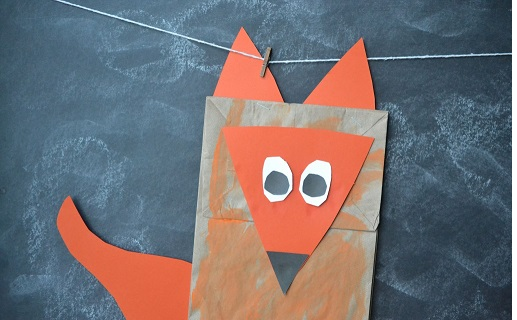 template of a fox