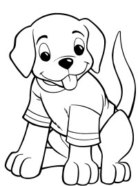 Dog Coloring Pages For Kids - Preschool and Kindergarten