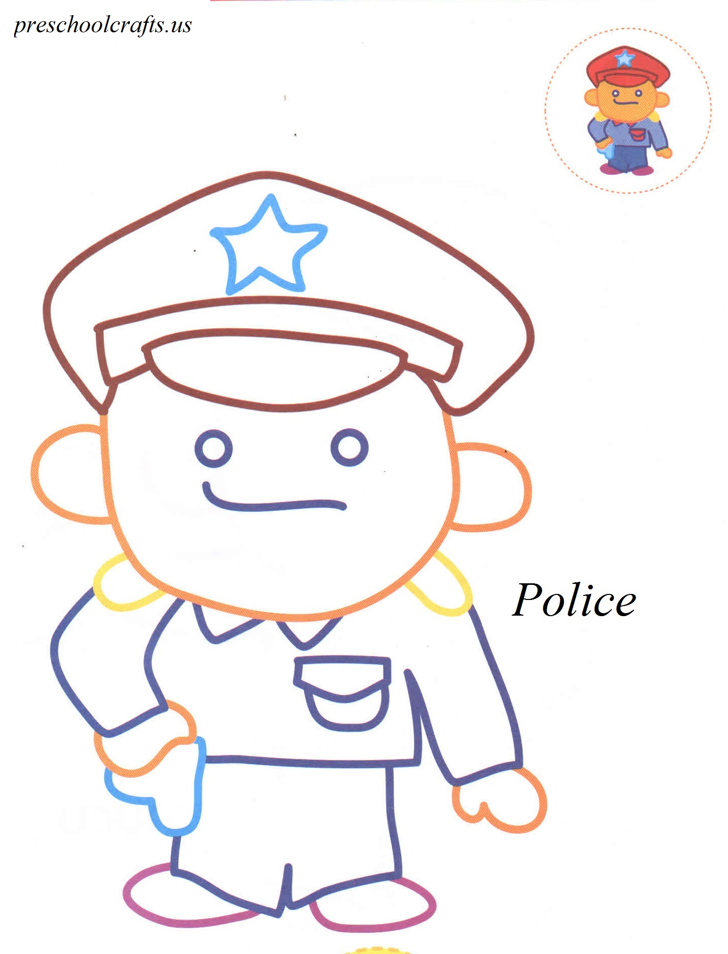 Police Coloring Pages
