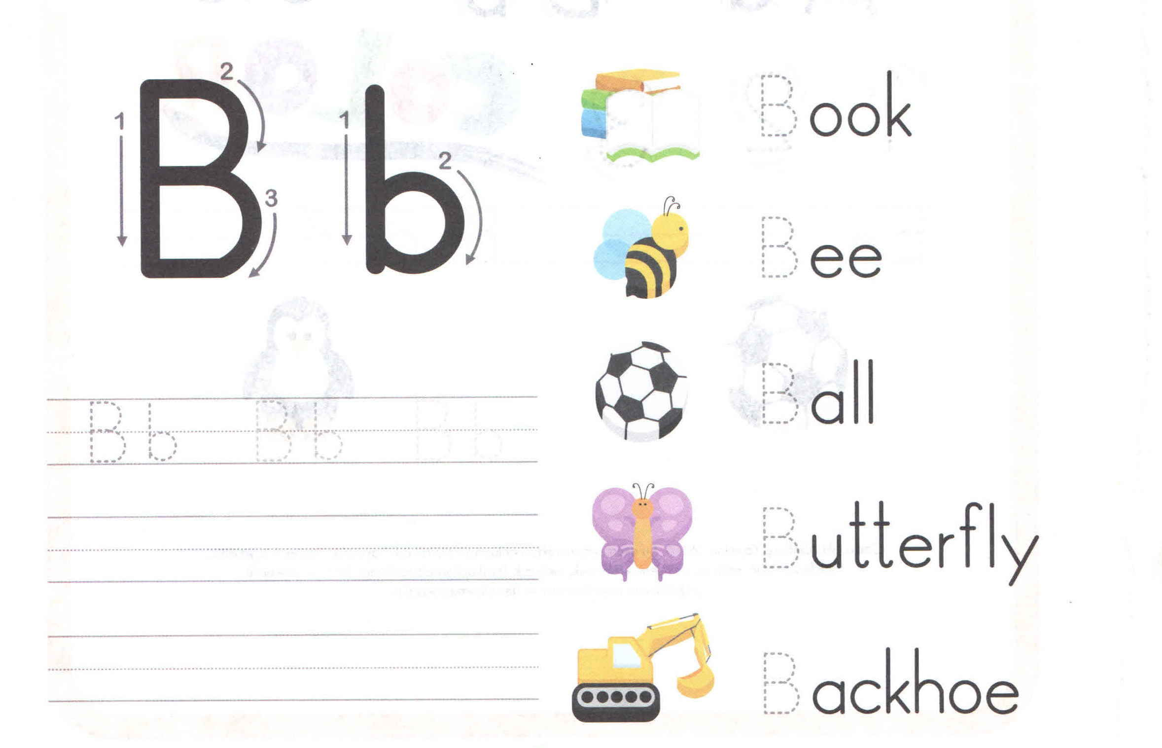 Practice Writing Letter B Worksheet