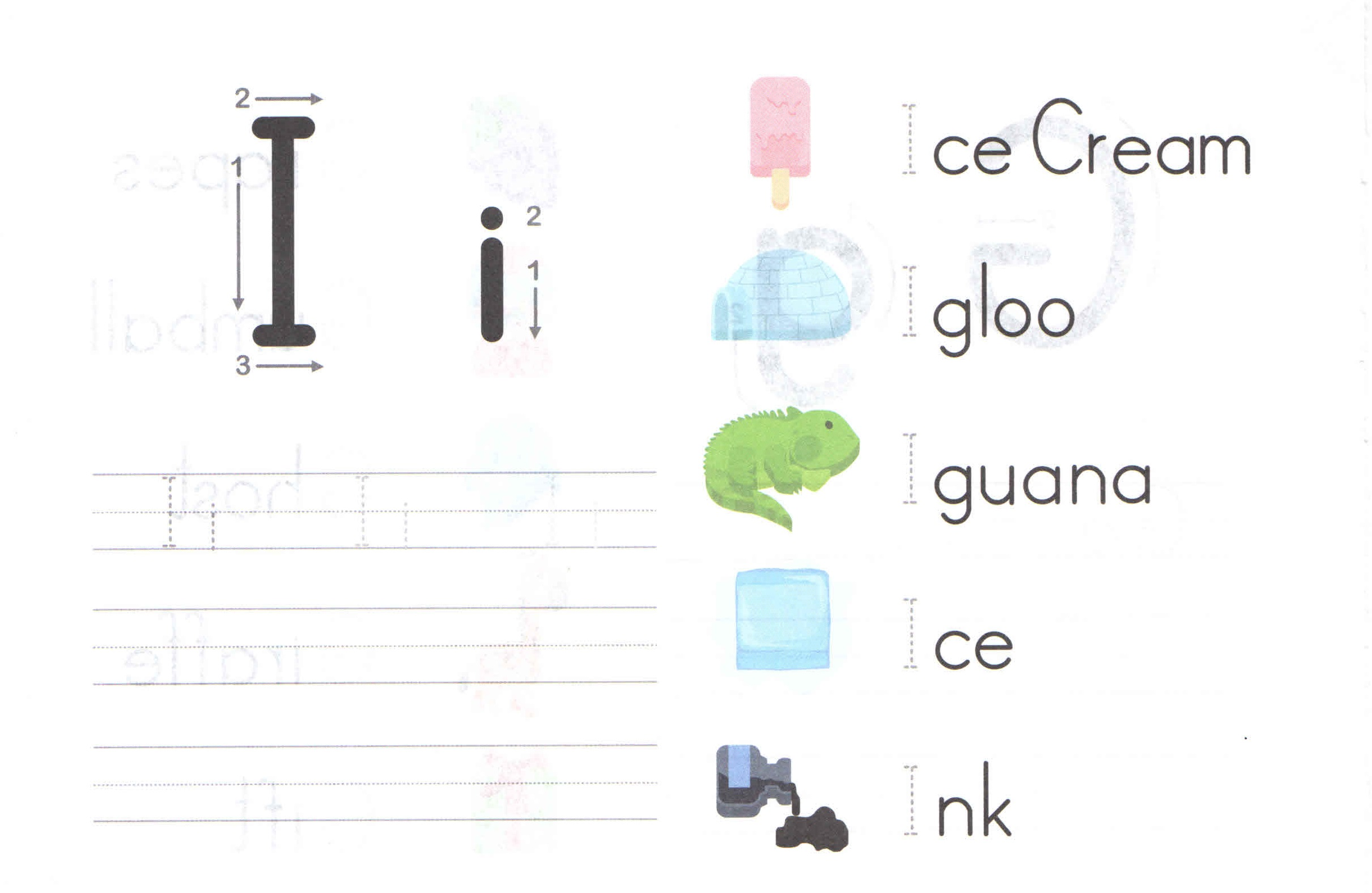 Alphabet Capital And Small Letter I I Worksheet For Kids