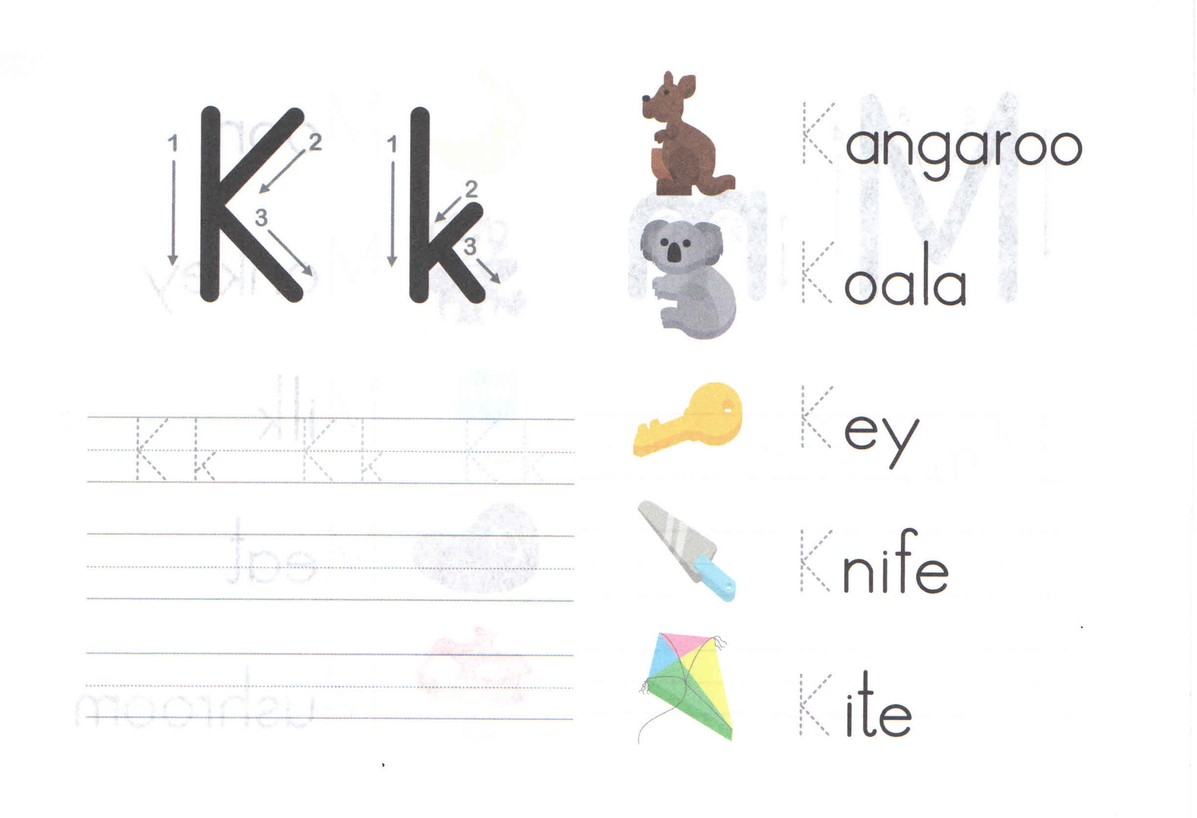 Kk Alphabet Gallery