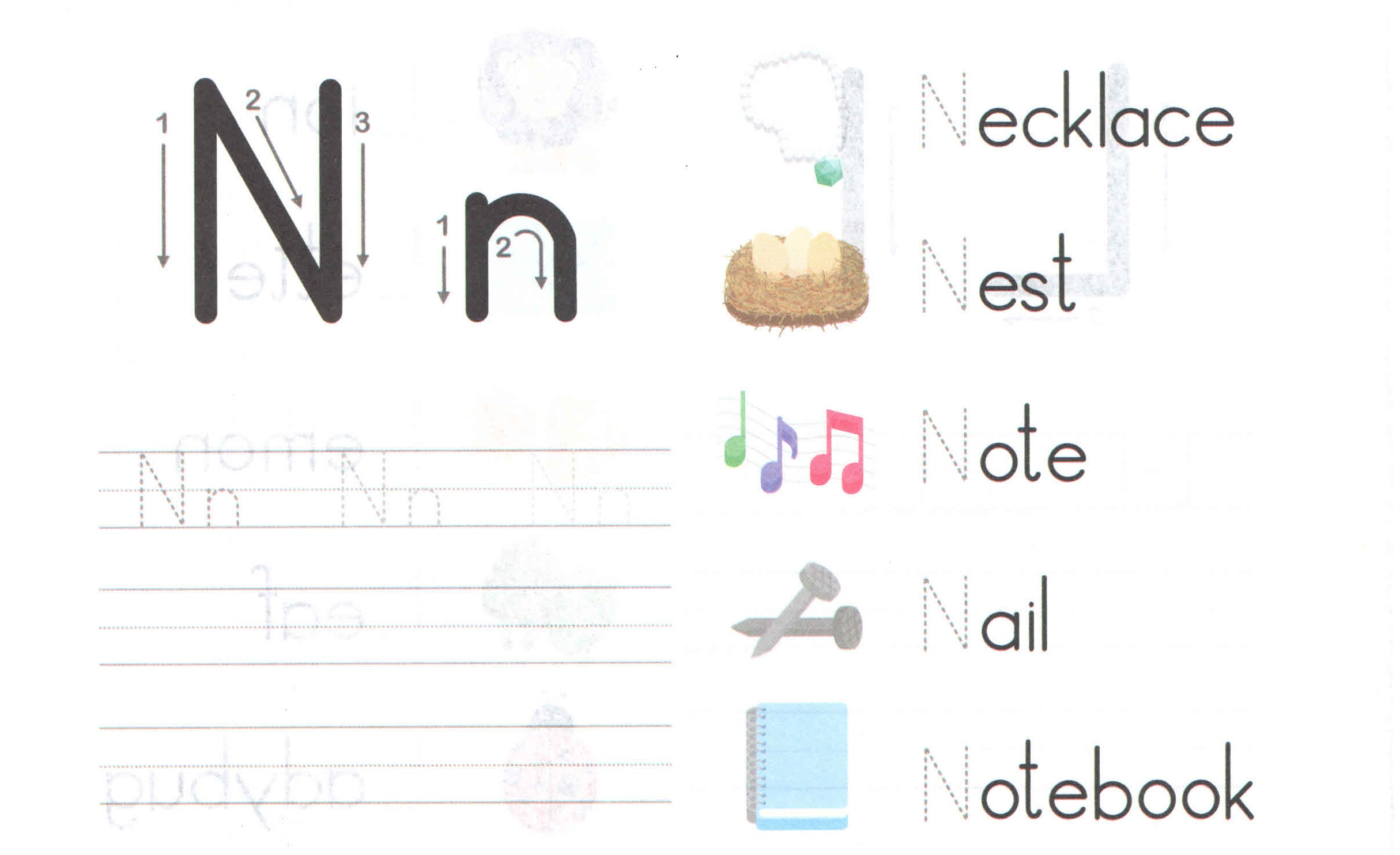 Alphabet Capital And Small Letter N N Worksheet For Kids