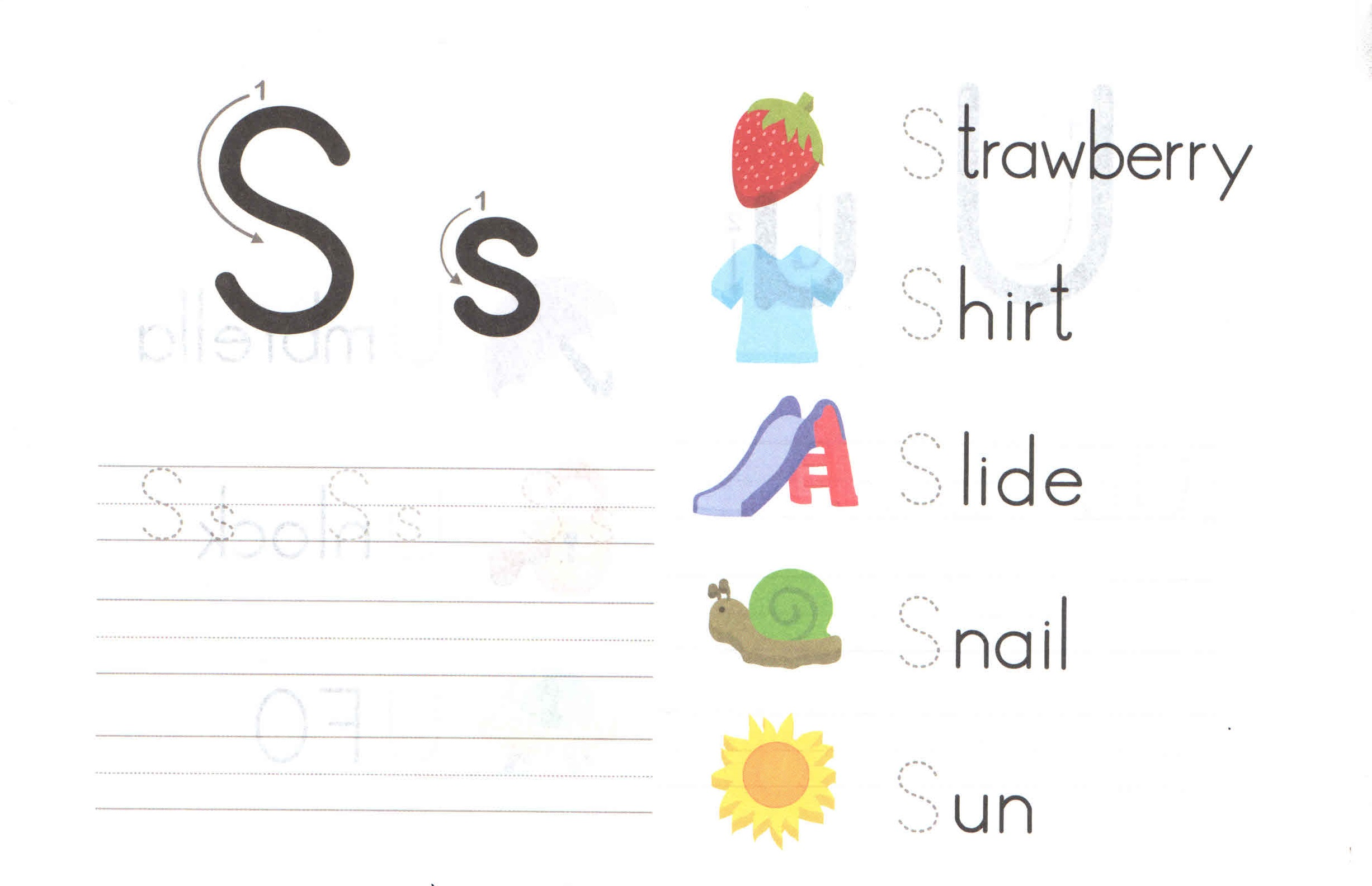 Alphabet Capital And Small Letter S S Worksheet For Kids