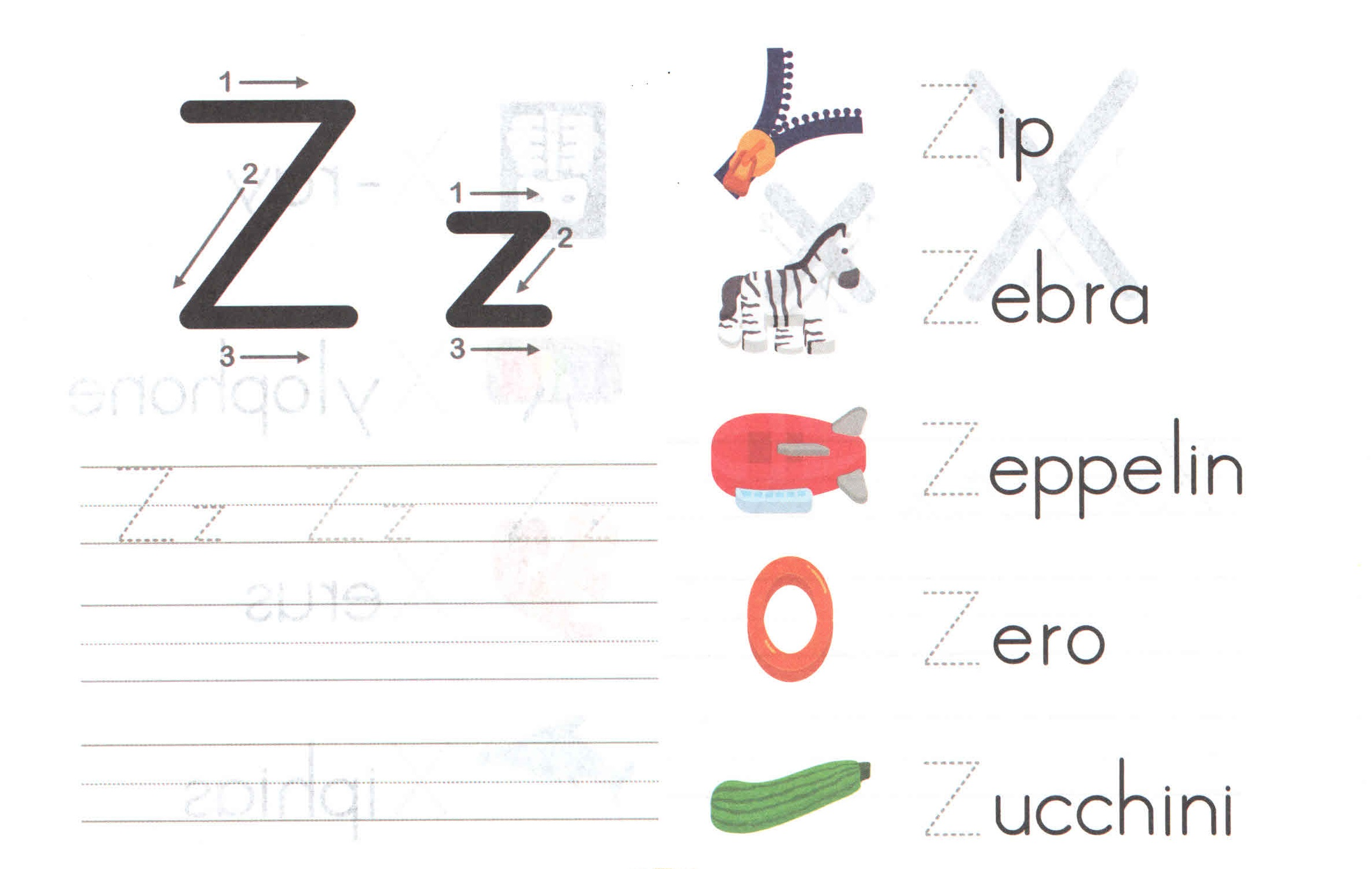Alphabet Capital And Small Letter Z Z Worksheet For Kids