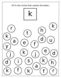 Letter K Worksheets for Preschool - Preschool and Kindergarten