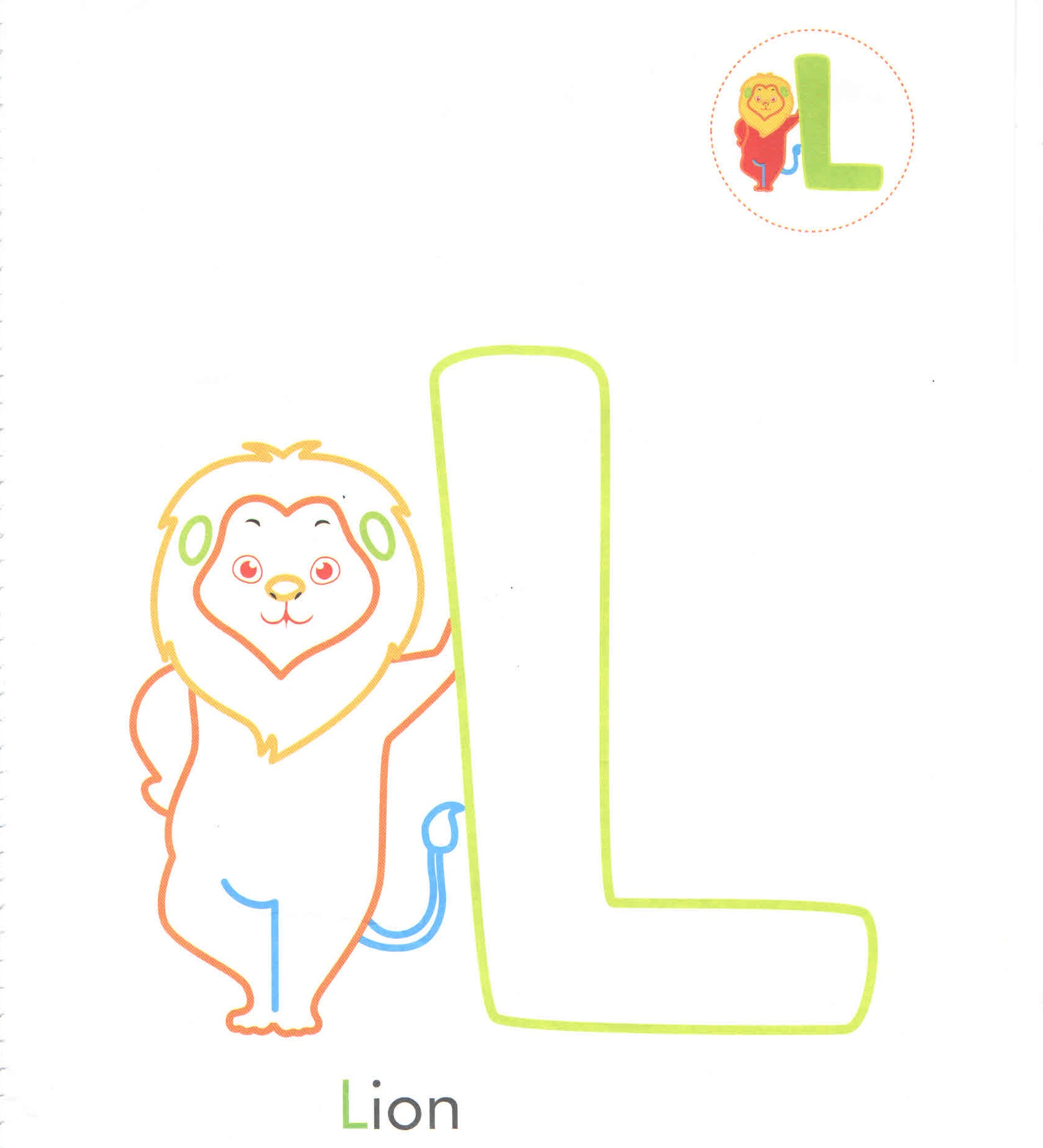 Alphabet Letter L L Lion Coloring Page For Preschool