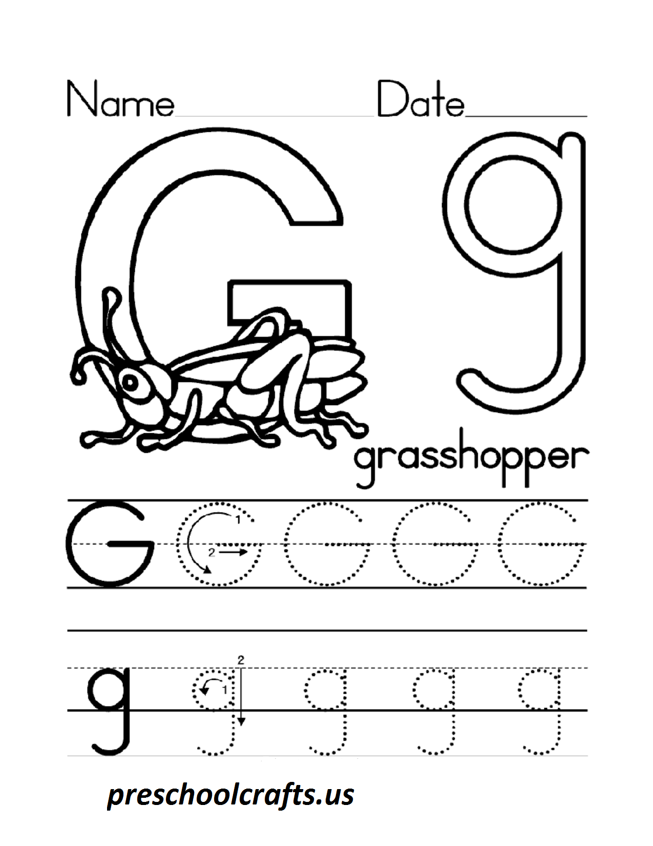 Worksheets Letter G Worksheets letter g worksheets for preschool free library download w ksheets cr fts