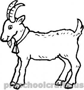 free Goat coloring pages for preschool Archives