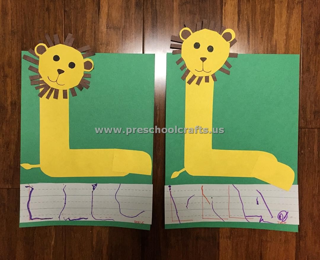 Letter L Crafts For Kindergarten
