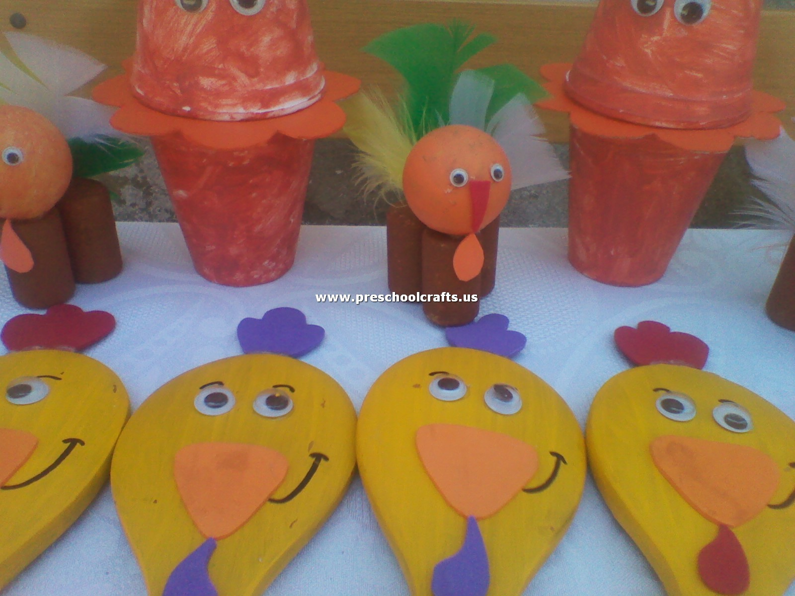 Chicken Crafts From Spoon