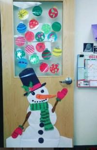 christmas-door-decoration-ideas-for-school - Preschool Crafts
