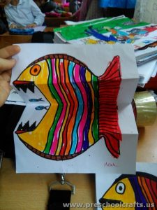 Folding Fish Paper Project for Kids  Preschool and