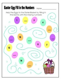 Easter Egg Fill in the Numbers Worksheet for Preschool ...