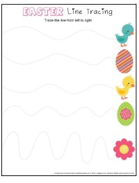 Easter Line Tracing Worksheet for Preschool - Preschool Crafts