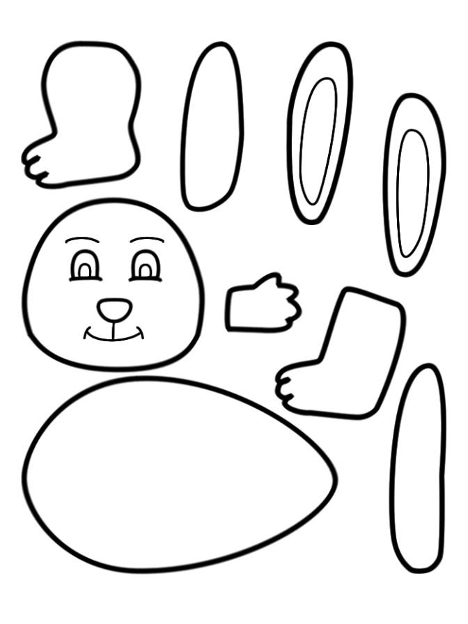 Easter Theme Rabbit Bunny Worksheet for Preschool