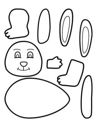 Easter Theme Rabbit Bunny Worksheet for Preschool