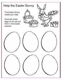 Help the Easter Bunny - Worksheet for Preschool ...