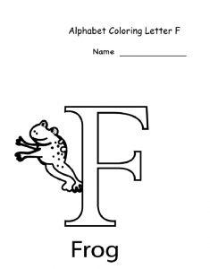 Letter F Worksheet for 1'st grade Preschool and