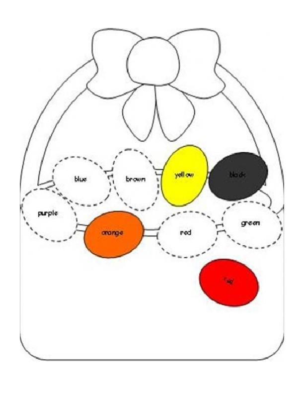 colored easter egg worksheet for preschool