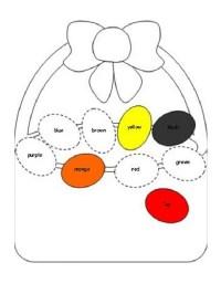 colored easter egg worksheet for preschool - Preschool Crafts