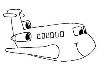 free printable airplane vehicles coloring pages for