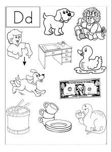 Letter D Worksheets for Preschool and Kindergarten