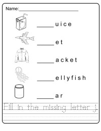 letter j worksheet for first grade and primary school ...