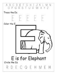 letter e worksheet preschool - Seatle.davidjoel.co