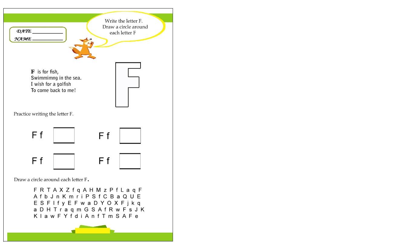 Write The Letter F Worksheet