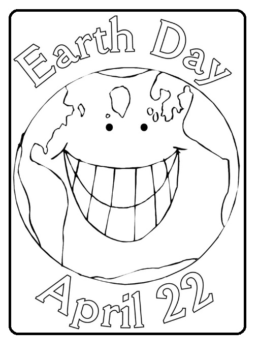 Free Printable Earth Day Coloring Page for Kindergarten 22