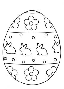 Preschool Happy Easter Egg Coloring Pages Archives