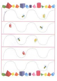 Spring Themed Tracing Lines Worksheets For Preschoolers ...