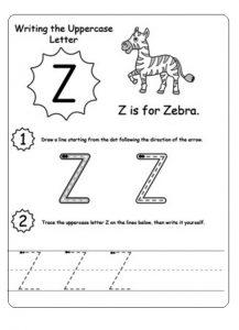 Uppercase Letter Z Worksheet Free Printable