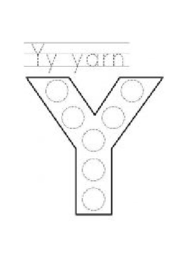 free printable uppercase letter Y practice for