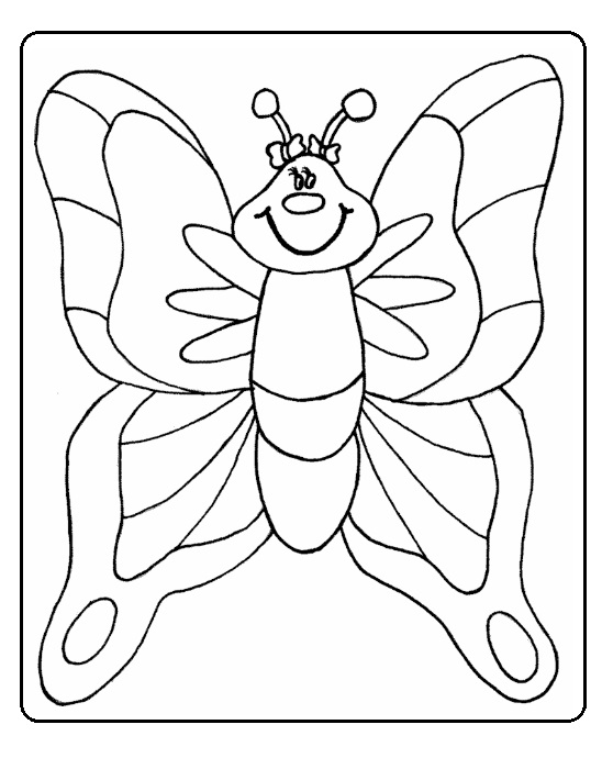 printable butterfly coloring pages to spring theme